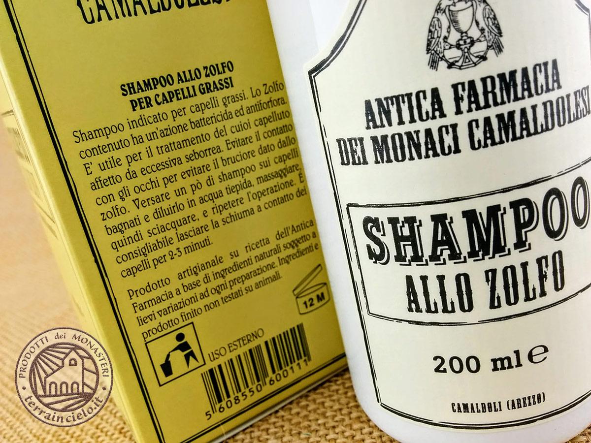 Shampoo allo Zolfo dei Monaci Camaldolesi